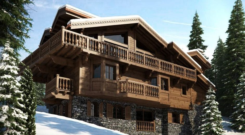 exclusive ski chalet rental in courchevel 1850 with pool