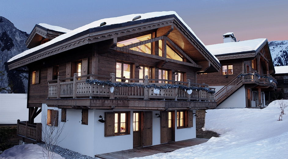luxury catered ski lodge in the alps