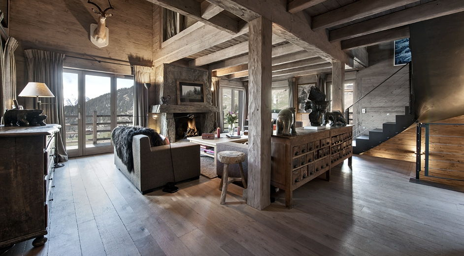 Family ski chalet for rent in verbier with sauna and jacuzzi - Deco style chalet moderne ...