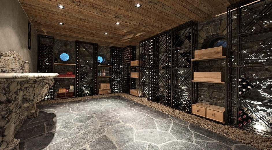 Luxury Ski Accommodation With Outdoor Jacuzzi In Verbier : whine cellar  - Aeropaca.Org