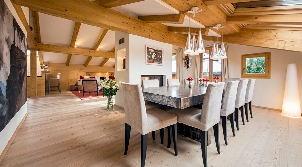 kinderfreundliches luxus-ferienhaus in gstaad mieten - für elf gäste - Luxus Chalet 6 Schlafzimmer