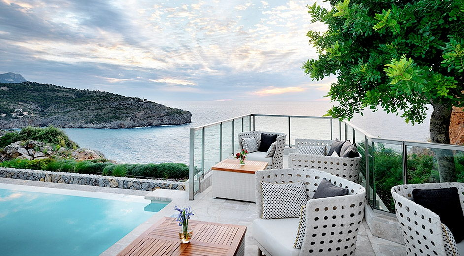 Romantic luxury spa hotel in majorca near port soller with for Luxury hotels near