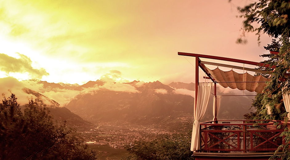 Luxury hotel in Merano with scenic mountain views and gourmet dining