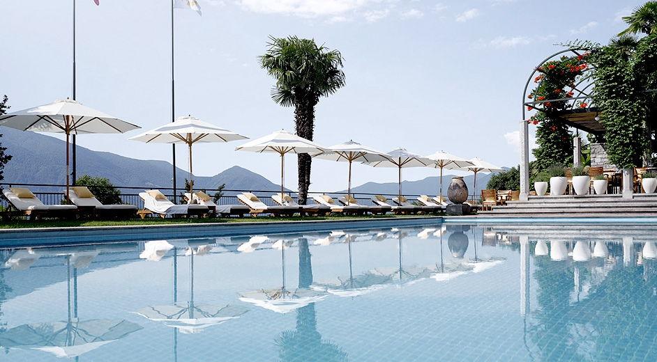 H tel de luxe avec spa et tennis dans les collines de for Design hotel tessin