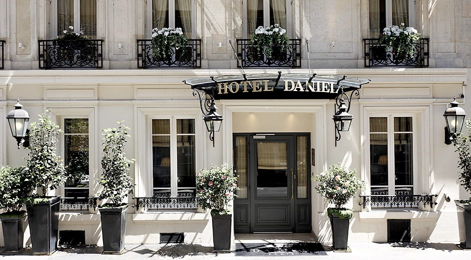 Hotel daniel 4 star paris city centre hotel with fine dining for Paris boutiques hotels