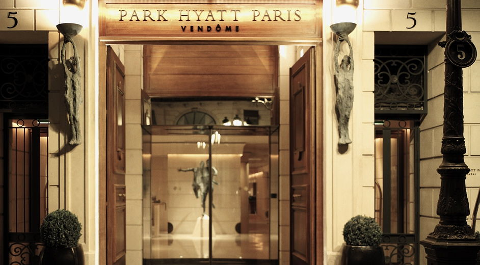 entrance to Park Hyatt Paris Vendome
