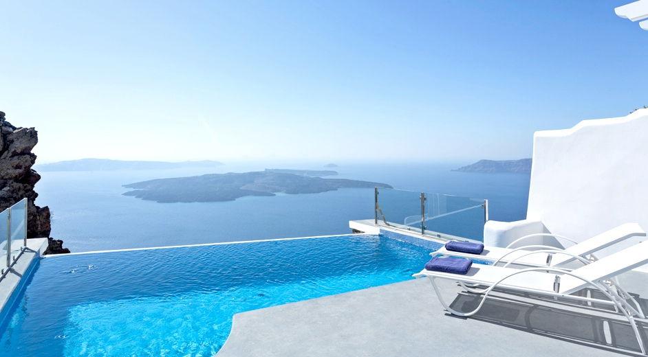 Luxus-Hotel auf Santorin mit idyllischer Aussicht: Pegasus ...