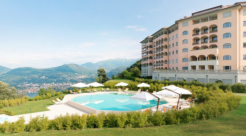 Five star hotel near the lake in lugano with spa and for Design hotel tessin
