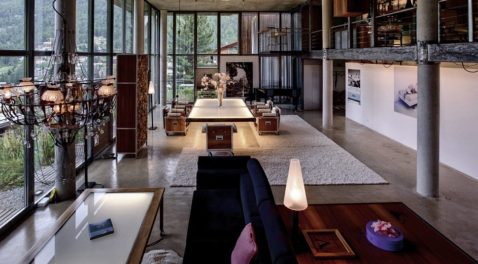 luxus ferienhaus mit sauna zermatt loft. Black Bedroom Furniture Sets. Home Design Ideas