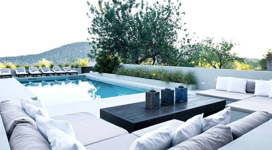 Modern luxury villa to rent in ibiza with great mountain views - Ibiza house renting ...