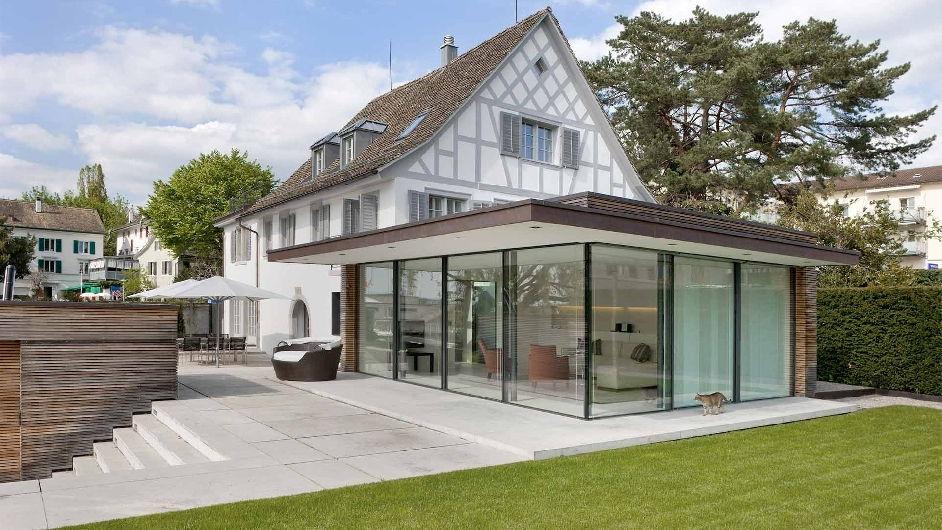 Luxury lakeside villa rental in zurich kusnacht for 8 for Modern house zurich