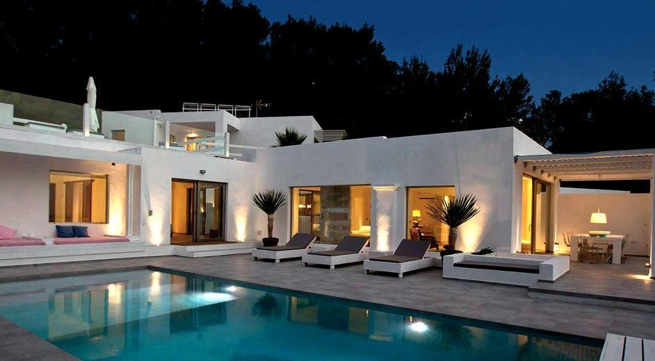 Design beachfront villa with sea view to rent near San Antonio Ibiza