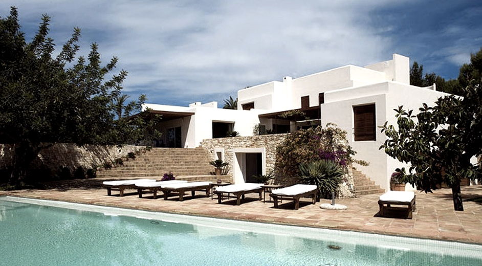 Modern family holiday villa rental in ibiza with direct - Ibiza house renting ...