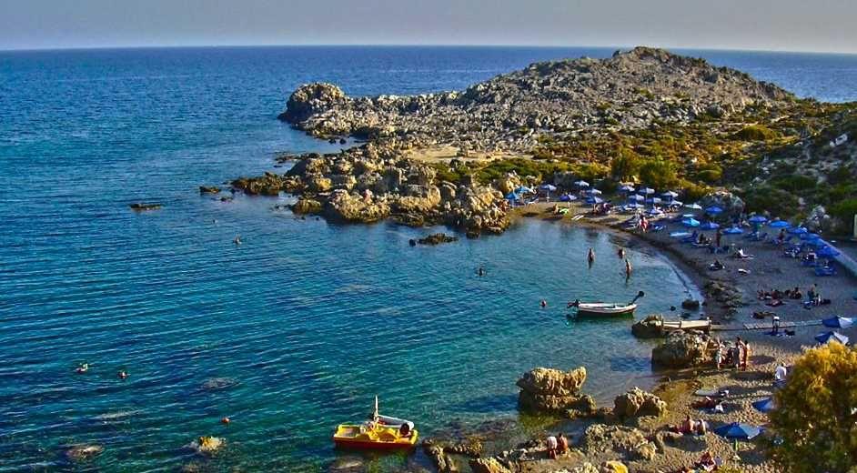 Rhodos Karte Strände.Traumstrände Auf Rhodos Die Besten Strände Der Griechischen Insel