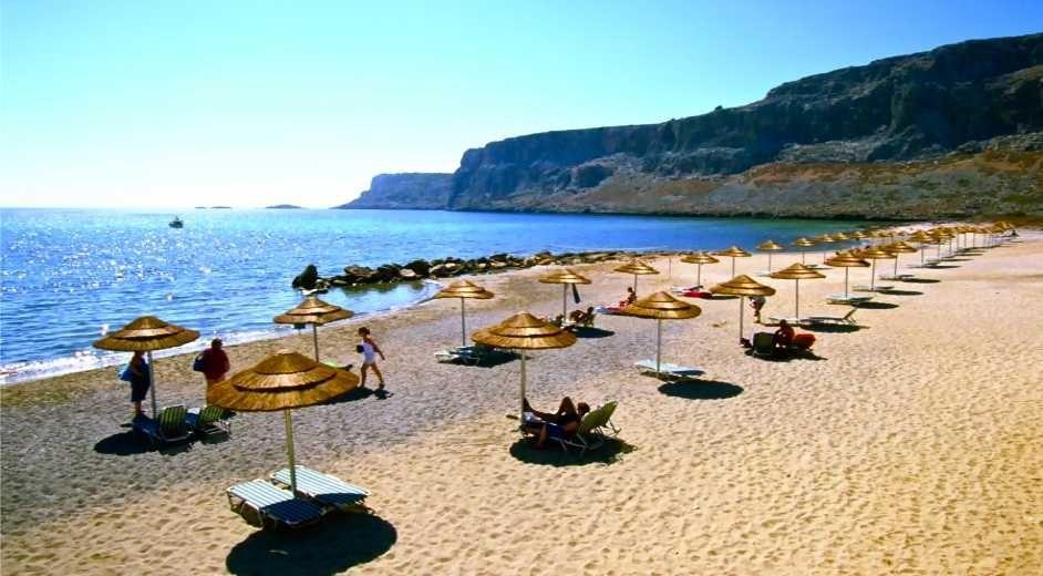 Strand Karte Rhodos.Traumstrände Auf Rhodos Die Besten Strände Der Griechischen Insel