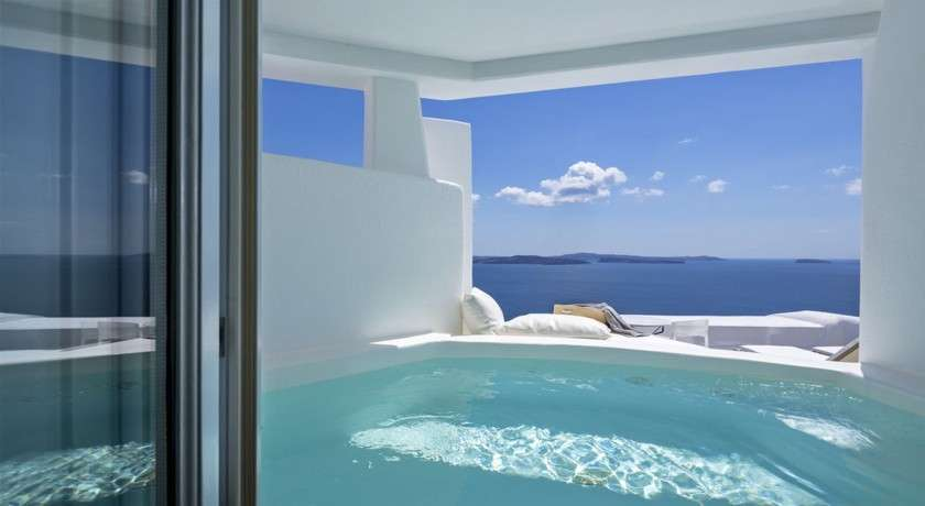 romantisches luxus hotel in santorini g ische inseln canaves oia. Black Bedroom Furniture Sets. Home Design Ideas